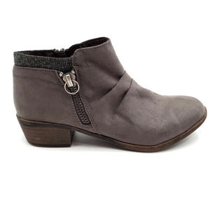 Dunes Kimball Suede Side Zip up Ankle Boots
